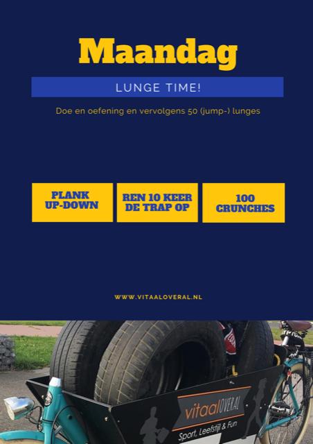 Lunge time! Personal training Biddinghuizen